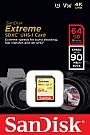 Karta Pamięci SANDISK EXTREME  SDXC 64 GB.Produkt dostępny od ręki!