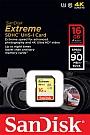 Karta Pamięci SANDISK EXTREME  SDHC 16 GB.Produkt dostępny od ręki!