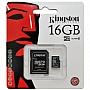 Karta pamięci Kingston MicroSDHC 16GB Class 4 Produkt dostepny od ręki!!!