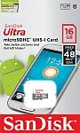 SANDISK ULTRA ANDROID microSDHC 16 GB 48MB/s Class 10 UHS-I.Produkt dostępny od ręki!