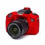 Osłona Gumowa EasyCover na aparat CANON EOS 760D RED . Produkt dostępny od ręki!