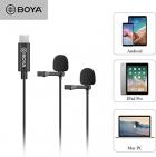Mikrofon krawatowy BOYA BY-M3D podwójny  Do Smartfonów i Tabletów