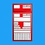 Koperty zleceniowe Czerwone 1000szt .Produkt dostępny od ręki!