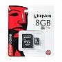 Karta pamięci Kingston MicroSDHC 8GB Class 4 Produkt dostepny od ręki!!!